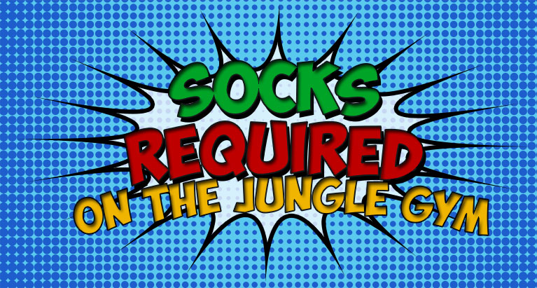 Socks Required on Jungle Gym